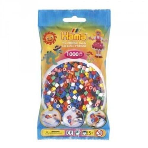 Hamma Beads Cuentas Hamma Hamma Didacticos Paquete 1000 Piezas Colores Surtidos Tamaño Mediano