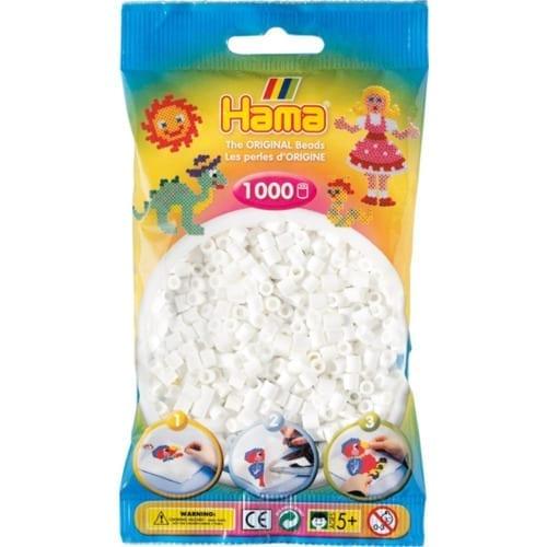Hamma Beads Cuentas Hamma Hamma Didacticos Paquete 1000 Piezas Color Blanco Tamaño Mediano