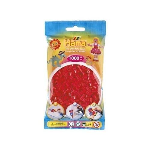 Hamma Beads Cuentas Hamma Hamma Didacticos Paquete 1000 Piezas Color Rojo Tamaño Mediano