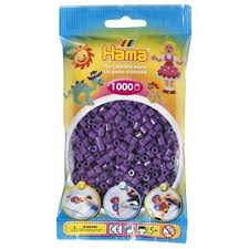 Hamma Beads Cuentas Hamma Hamma Didacticos Paquete 1000 Piezas Color Púrpura Tamaño Mediano