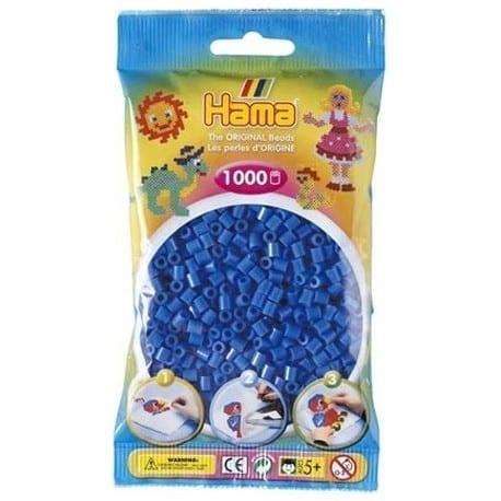 Hamma Beads Cuentas Hamma Hamma Didacticos Paquete 1000 Piezas Azul Claro Tamaño Mediano