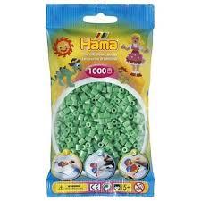 Hamma Beads Cuentas Hamma Hamma Didacticos Paquete 1000 Color Verde Claro Tamaño Verde Claro