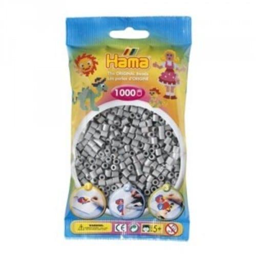 Hamma Beads Cuentas Hamma Hamma Didacticos Paquete 1000 Piezas Color Gris Tamaño Mediano