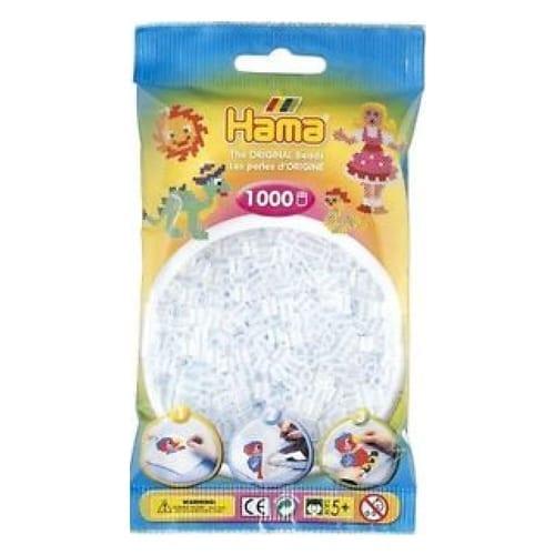 Hamma Beads Cuentas Hamma Hamma Didacticos Paquete 1000 Piezas Color Transparente Tamaño Mediano