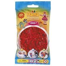 Hamma Beads Cuentas Hamma Hamma Didacticos Paquete 1000 Piezas Color Rojo Oscuro Tamaño Mediano