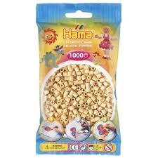 Hamma Beads Cuentas Hamma Hamma Didacticos Paquete 1000 Piezas Color Beige Tamaño Mediano
