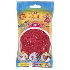 Hamma Beads Cuentas Hamma Hamma Didacticos Paquete 1000 Piezas Color Rojo Vinotinto Tamaño Mediano