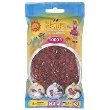Hamma Beads Cuentas Hamma Hamma Didacticos Paquete 1000 Piezas Rojo Borgoña Tamaño Mediano