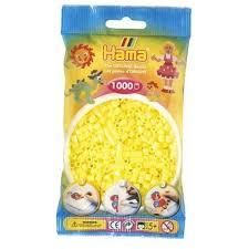 Hamma Beads Cuentas Hamma Hamma Didacticos Paquete 1000 Piezas Color Amarillo Pastel Tamaño Mediano