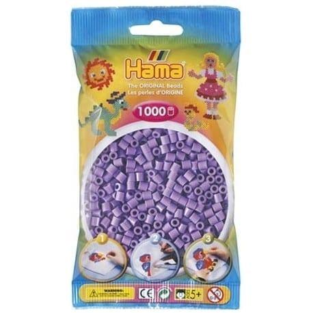Hamma Beads Cuentas Hamma Hamma Didacticos Paquete 1000 Piezas Color Púrpura Pastel Tamaño Mediano