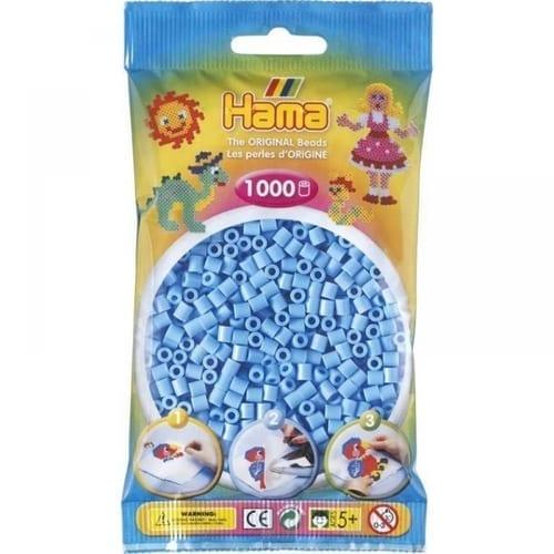 Hamma Beads Cuentas Hamma Hamma Didacticos Paquete 1000 Piezas Color Azul Pastel Tamaño Mediano