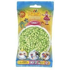 Hamma Beads Cuentas Hamma Hamma Didacticos Paquete 1000 Piezas Color Verde Pastel Tamaño Mediano