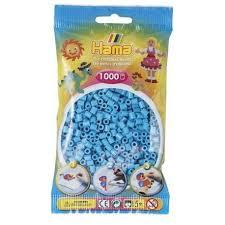 Hamma Beads Cuentas Hamma Hamma Didacticos Paquete 1000 Piezas Color Azul Celeste Tamaño Mediano