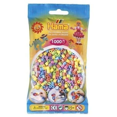 Hamma Beads Cuentas Hamma Hamma Didacticos Paquete 1000 Piezas Color Mix Pastel Tamaño Mediano