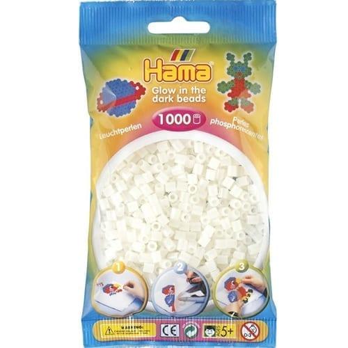 Hamma Beads Cuentas Hamma Hamma Didacticos Paquete 1000 Piezas Color Blanco Luminicente Tamaño Mediano