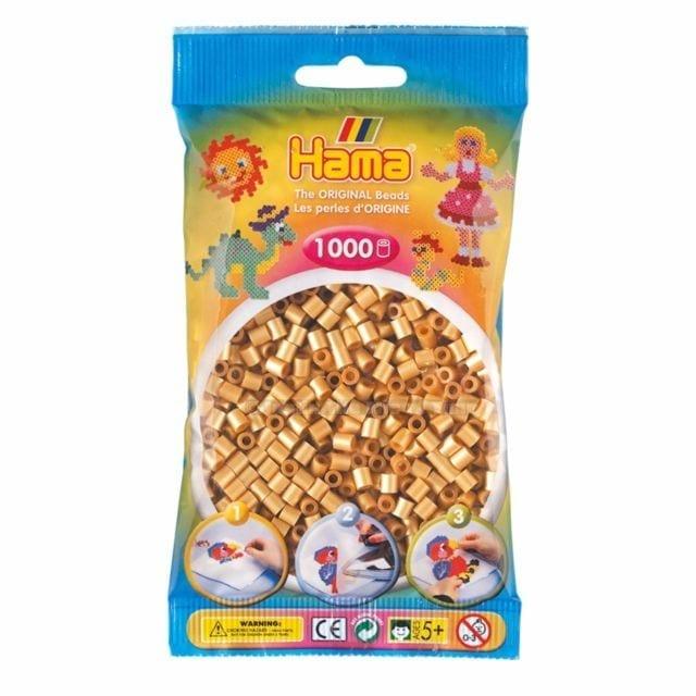 Hamma Beads Cuentas Hamma Hamma Didacticos Paquete 1000 Piezas Color Dorado Tamaño Mediano