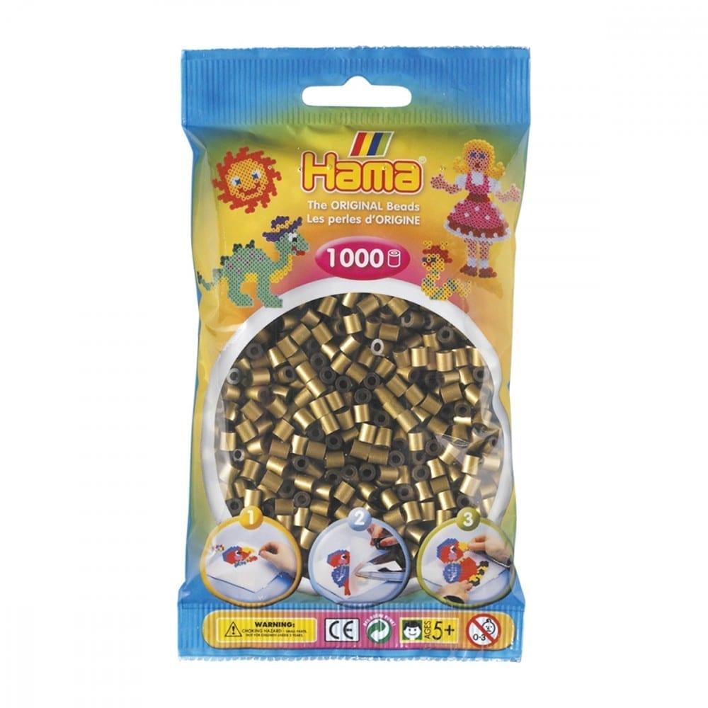 Hamma Beads Cuentas Hamma Hamma Didacticos Paquete 1000 Piezas Color Bronce Tamaño Mediano