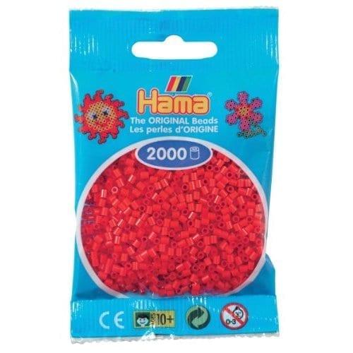 Hamma Beads Cuentas Hamma Hamma Didacticos Paquete 2000 Piezas Color Rojo Tamaño Mini