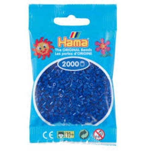 Hamma Beads Cuentas Hamma Hamma Didacticos Paquete 2000 Piezas Color Azul Tamaño Mini