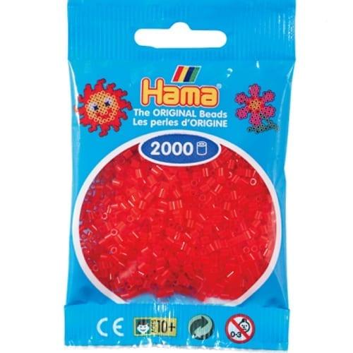 Hamma Beads Cuentas Hamma Hamma Didacticos Paquete 2000 Piezas Color Rojo Translucido Tamaño Mini