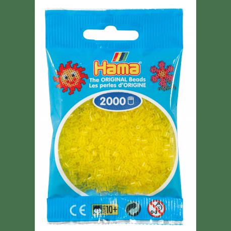 Hamma Beads Cuentas Hamma Hamma Didacticos Paquete 2000 Piezas Color Amarillo Translucido Tamaño Mini