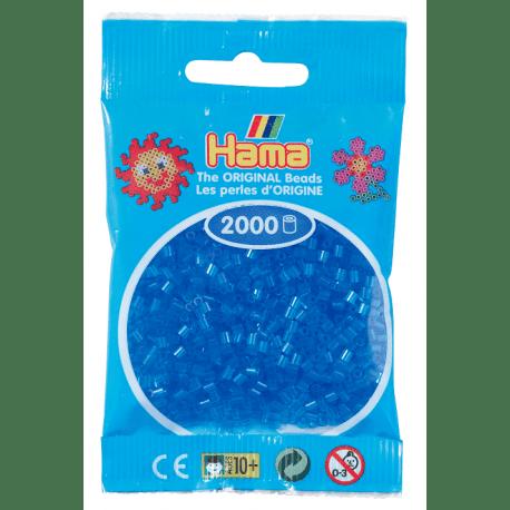 Hamma Beads Cuentas Hamma Hamma Didacticos Paquete 2000 Piezas Color Azul Translucido Tamaño Mini