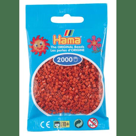 Hamma Beads Cuentas Hamma Hamma Didacticos Paquete 2000 Piezas Color Marrón Rojizo Tamaño Mini