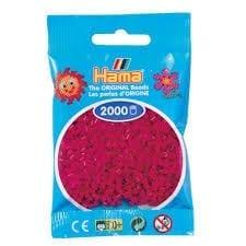 Hamma Beads Cuentas Hamma Hamma Didacticos Paquete 2000 Piezas Color Rojo Vinotinto Tamaño Mini