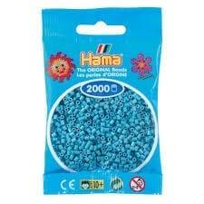 Hamma Beads Cuentas Hamma Hamma Didacticos Paquete 2000 Piezas Color Turquesa Tamaño Mini