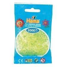 Hamma Beads Cuentas Hamma Hamma Didacticos Paquete 2000 Piezas Color Amarillo Neon Tamaño Mini