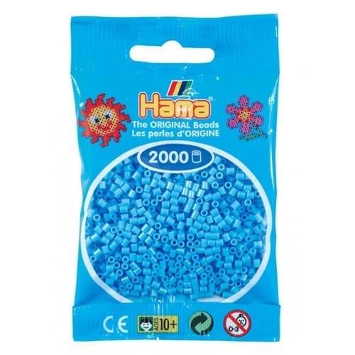 Hamma Beads Cuentas Hamma Hamma Didacticos Paquete 2000 Piezas Color Azul Pastel Tamaño Mini
