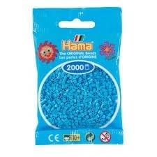 Hamma Beads Cuentas Hamma Hamma Didacticos Paquete 2000 Piezas Color Azul Celeste Tamaño Mini