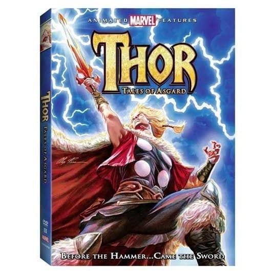 Película Thor Tales of Asgard Animated Movie Marvel (DVD)