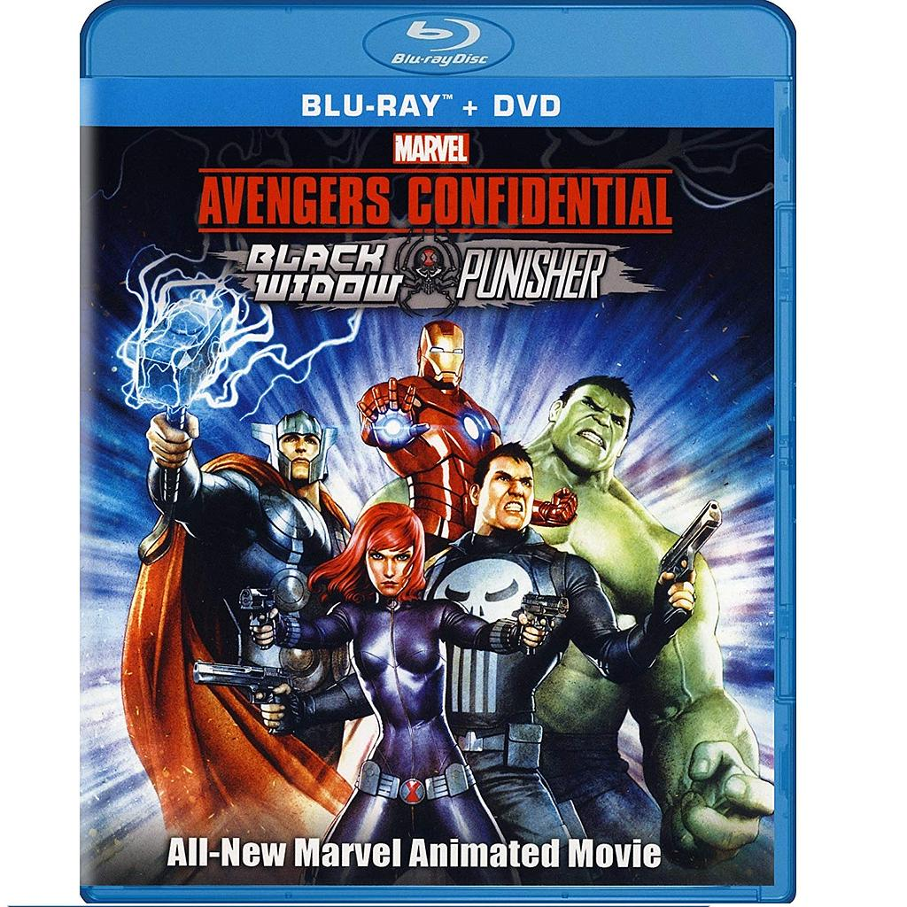 Película Avengers Confidential - Black Widow & Punisher PT Avengers Marvel (DVD)