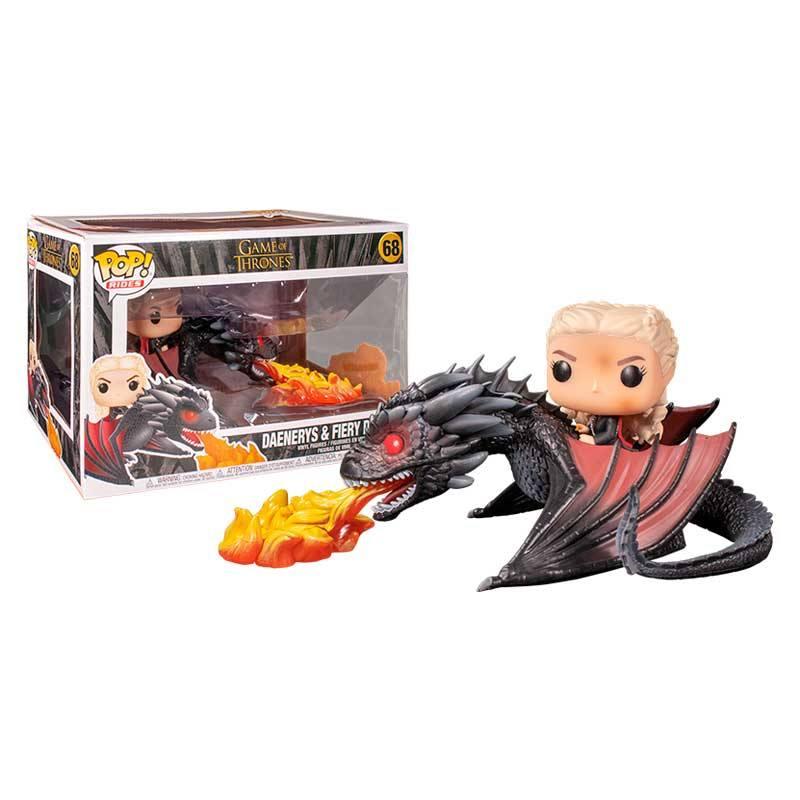 Figura Daenerys y Drogon Funko POP Juego de Tronos Series Daenerys sobre Drogon Enfurecido