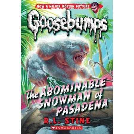 Libro Goosebumps Schoolastic Escalofrios Terror the Abominable Snowman of Pasadena ENG