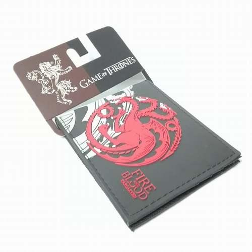 Billetera de Goma Targaryen PT Juego de Tronos Series Fuego y Sangre