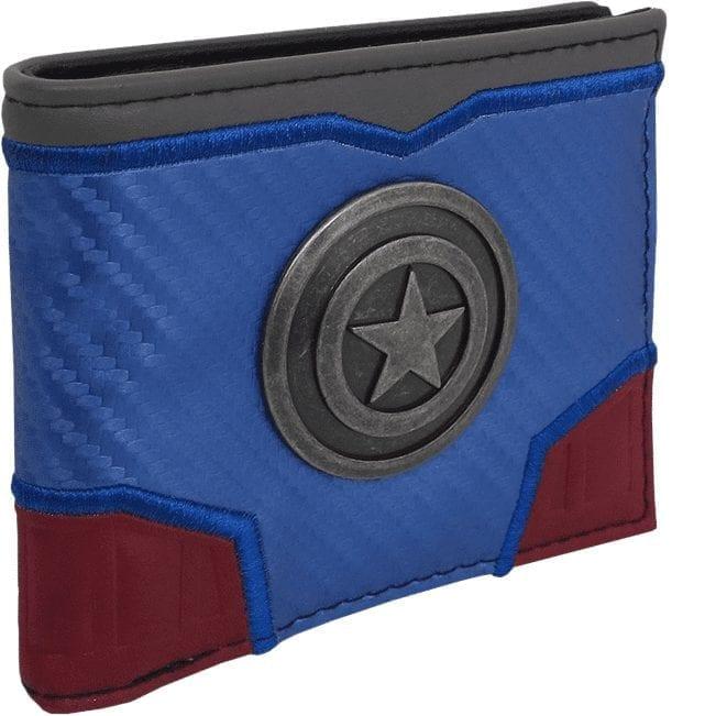Billetera Escudo Capitán América Metalico Bioworld Capitán América Marvel