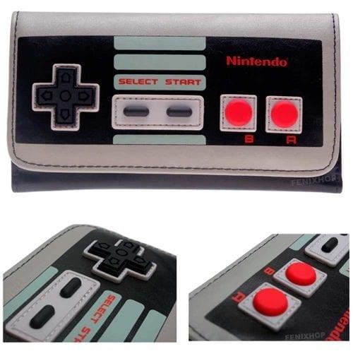 Cartera Control NES PT Nintendo Videojuegos Para Mujer