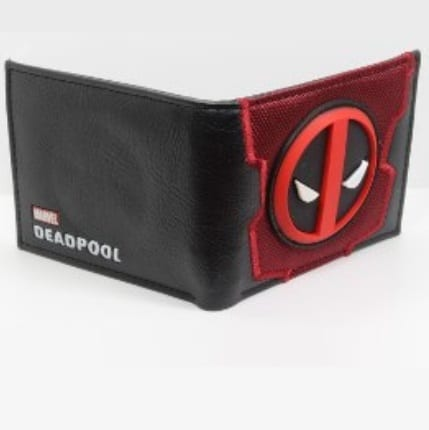 Billetera Deadpool Bioworld Deadpool Marvel Logo en Goma Sobre Cuerina (Copia)