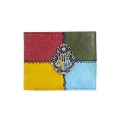 Billetera Emblema Hogwarts Metálico PT Harry Potter Fantasia