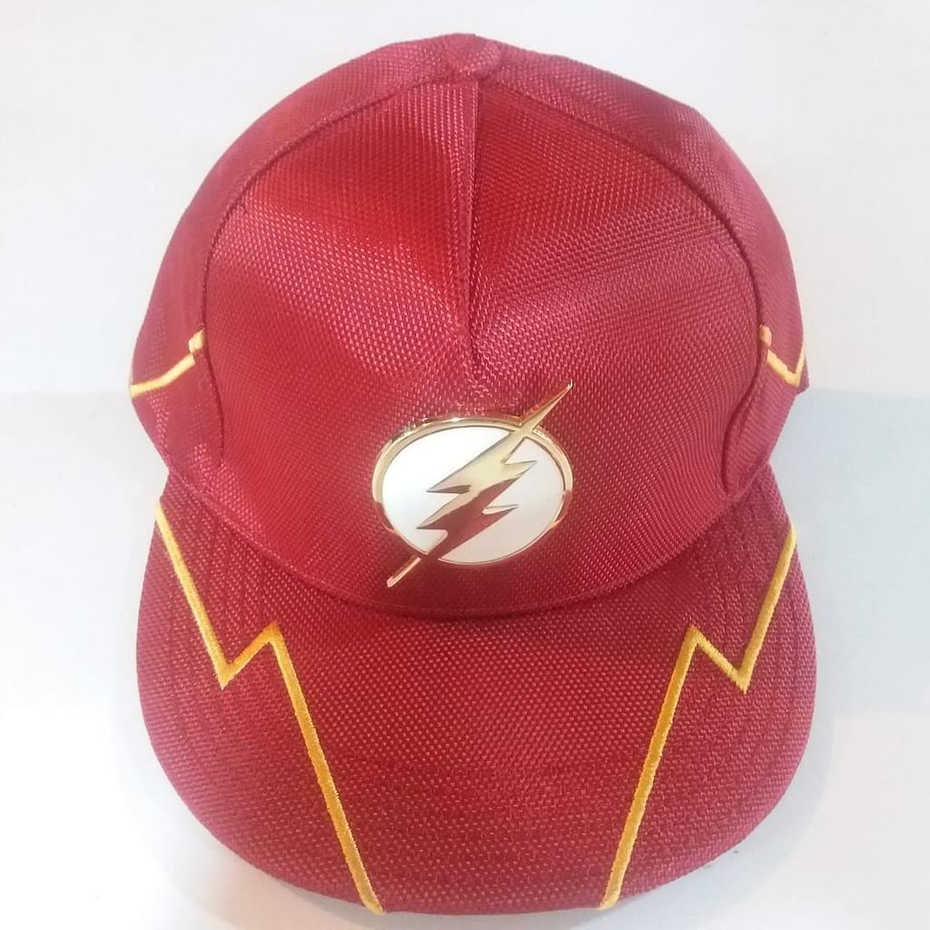 Gorra Flash PT Flash DC Comics Plana Serie TV con Rayos Amarillos  Logo Metálico