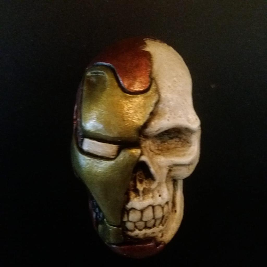 Imán Iron Man Rotten Kidney Skull Magnet Iron Man Marvel
