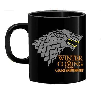 Mug Tallado Casa Stark TooGEEK Juego de Tronos Series Winter Is Coming