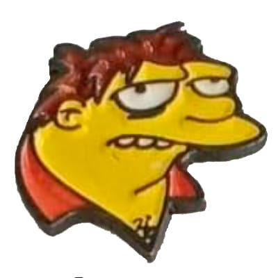 Pin Metálico Barney TooGEEK Los Simpsons Animados (Color)