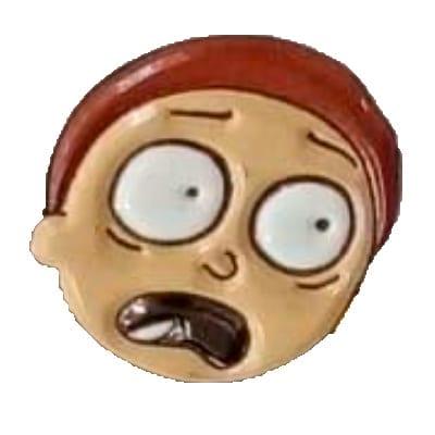 Pin Metálico Morty Asustado TooGEEK Rick and Morty Animados (Color)