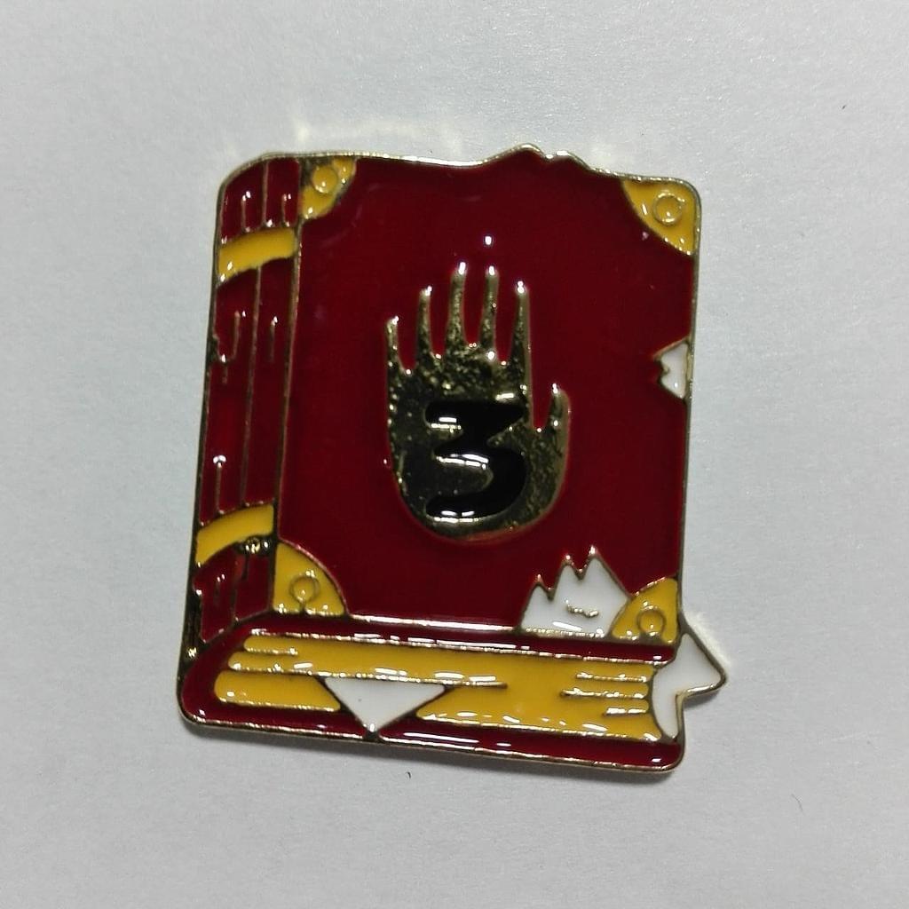 Pin Metálico Diario Número 3 PT Gravity Falls Animados Color
