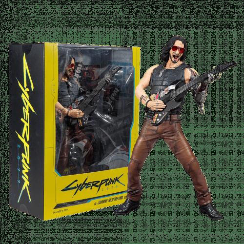 """Figura Johnny Silverhand Mcfarlane Toys Cyberpunk 2077 Ciencia Ficción 12"""" Figura de Lujo"""