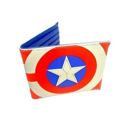 Billetera Goma Capitán América PT Vengadores Marvel Franjas y Estrellas (Copia)