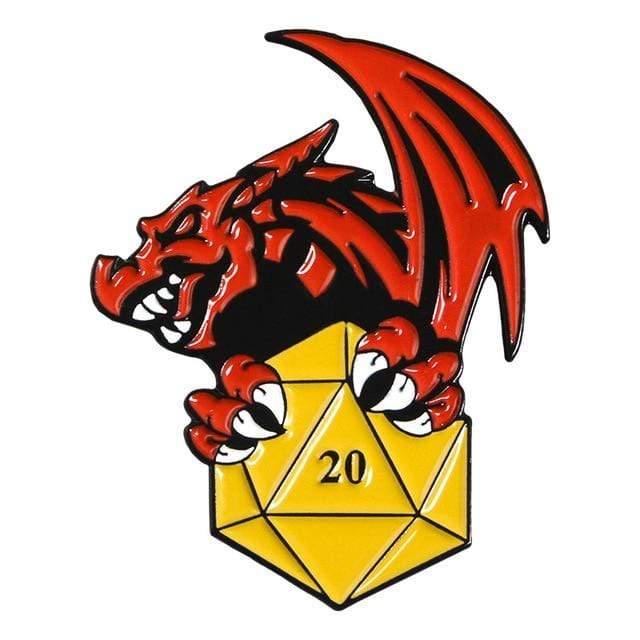 Pin Dragon y Dado PT Dungeons & Dragons Fantasia